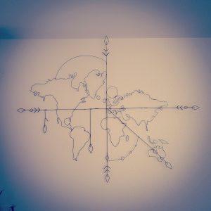 map monde au sens du fil