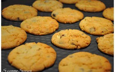 Cookies aux 3 chocolats et à la cacahuète