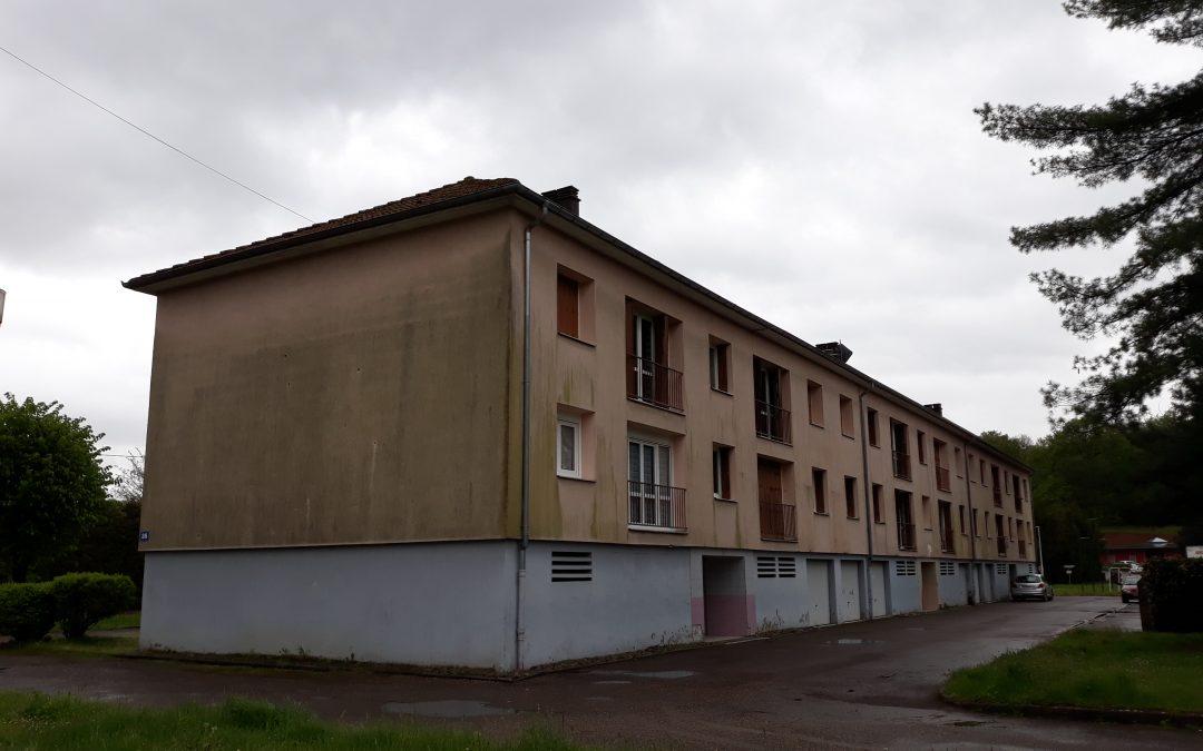 Réhabilitation prévue en 2021 d'un bâtiment collectif de 12 logements à Ronchamp