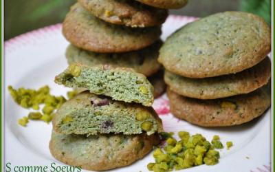 Cookies à la pistache et au chocolat noir