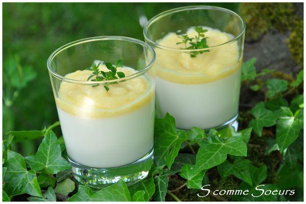 Panna Cotta au Lemon Curd